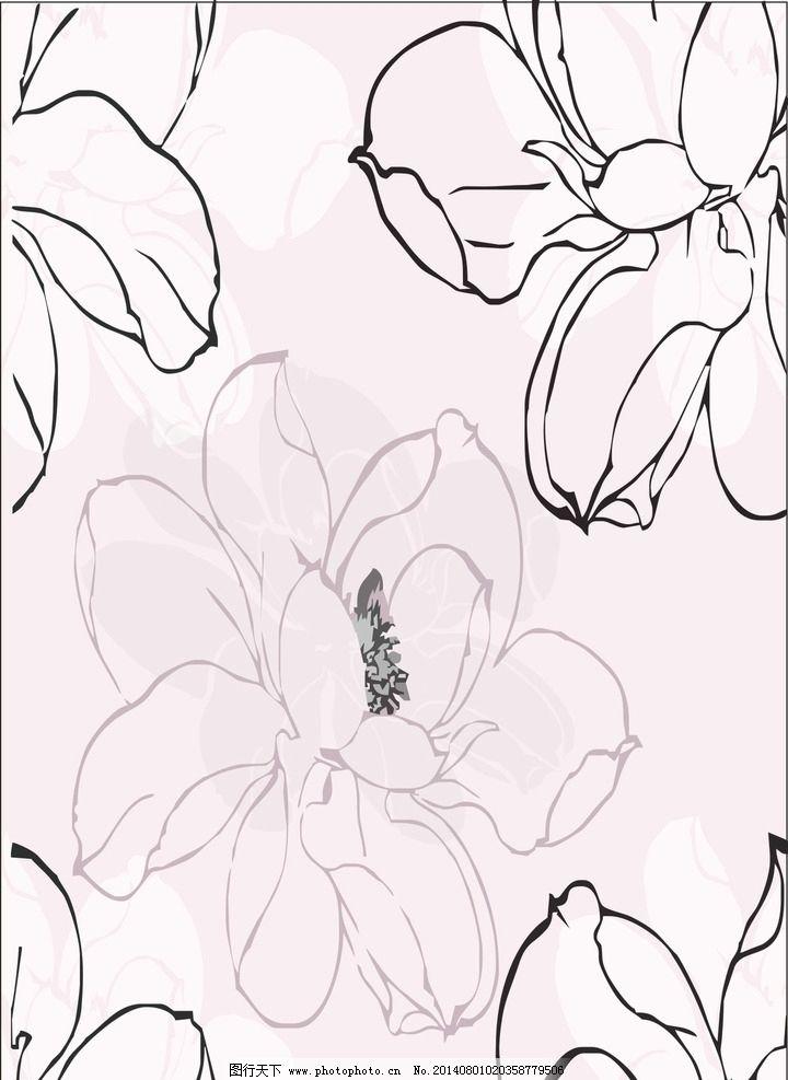 花朵线条简笔画