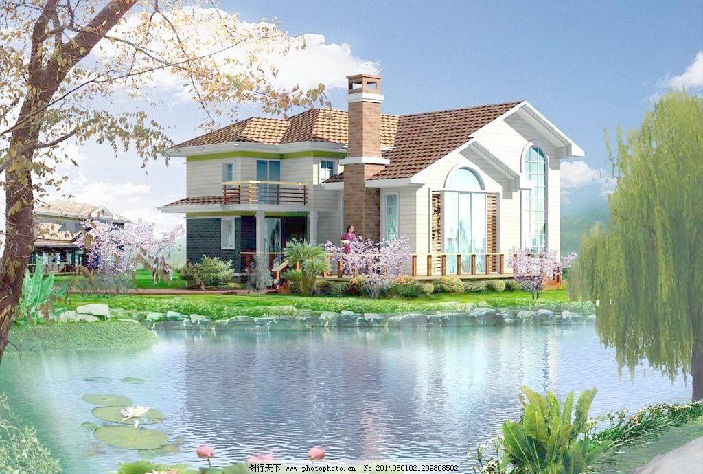 别墅 三维模型 建筑模型 园林建筑装饰设计素材 3d模型素材 室内场景