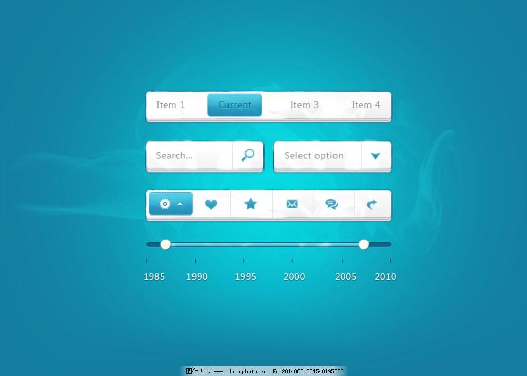 蓝色 按钮 导航 图标 加载 客户端界面 移动界面设计 设计 72dpi psd