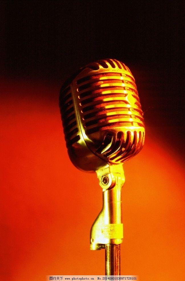 话筒 麦克风 唱歌 金色话筒 音乐素材 摄影