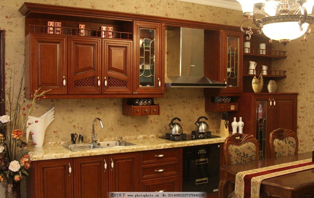 厨房 欧式 实木 圆方图片
