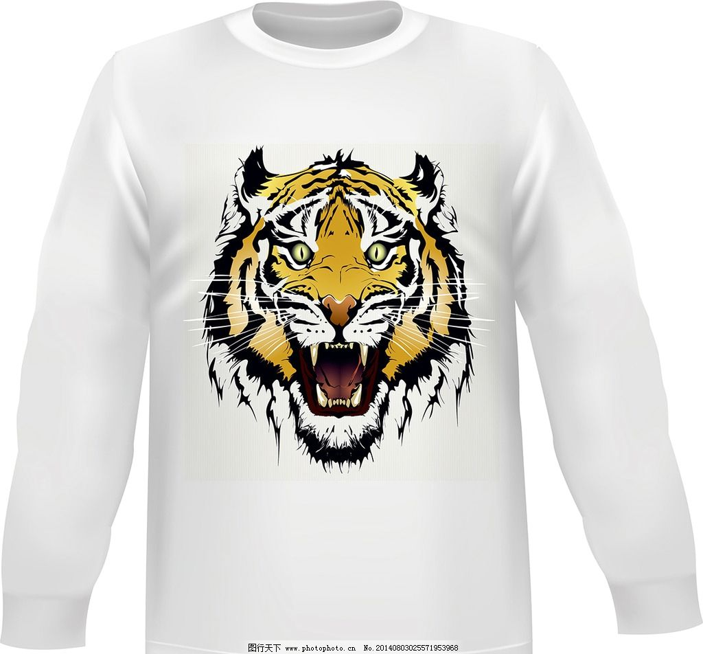 欧美花纹 欧式花纹 服装图案 花纹图标 花纹设计 虎头 虎 大型动物