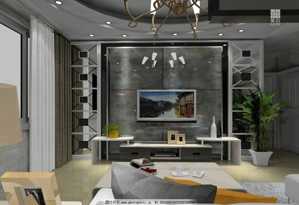 室内设计电视背景墙图片