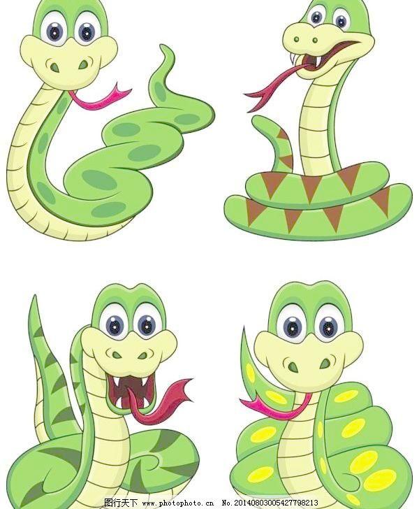 可爱的卡通蛇矢量素材01矢量素材