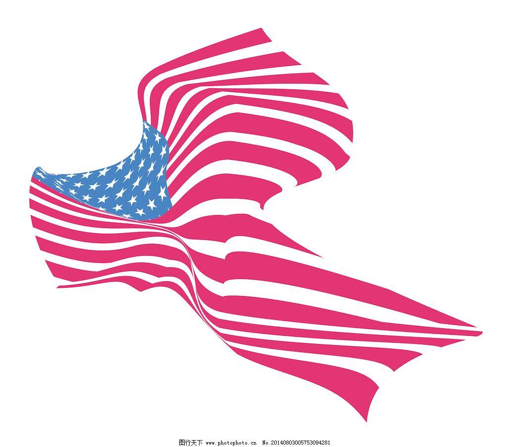 波浪形的美国国旗的设计