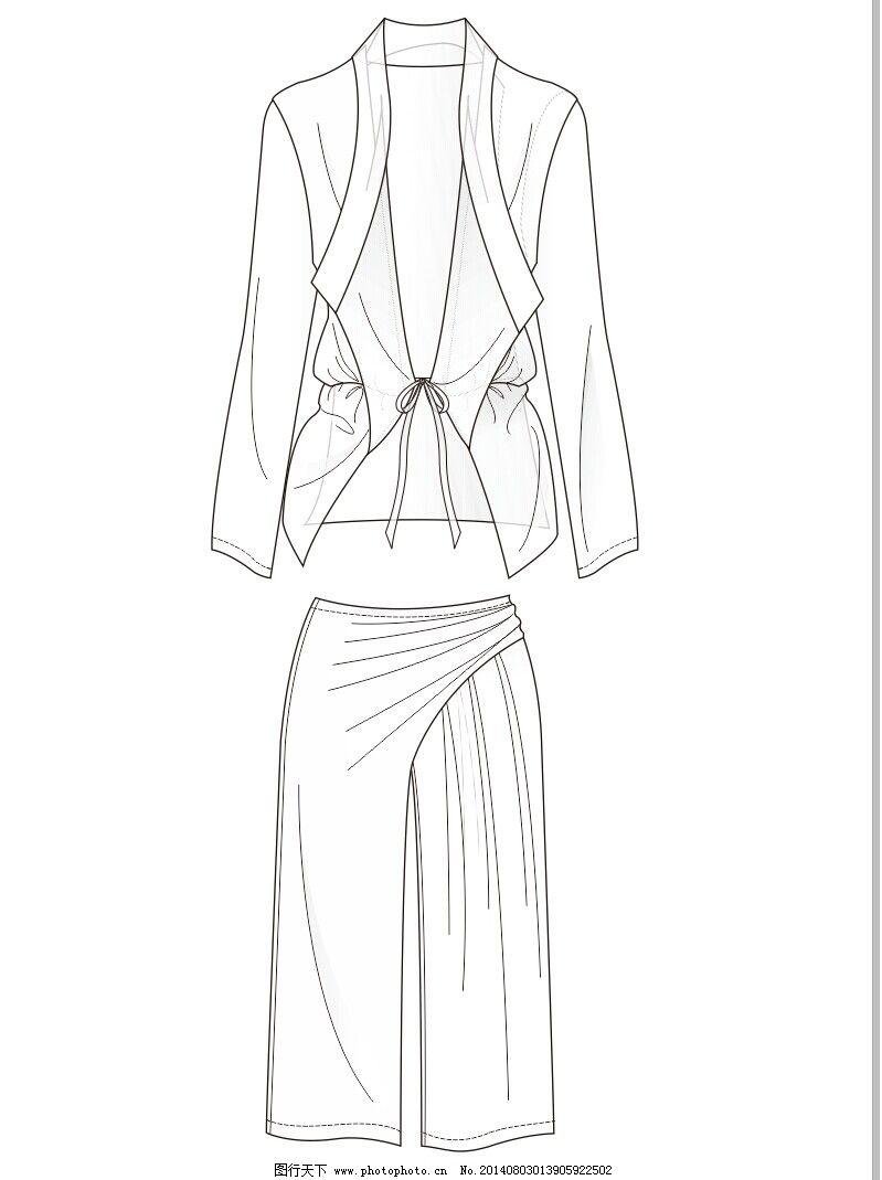 手绘服装款式系列图