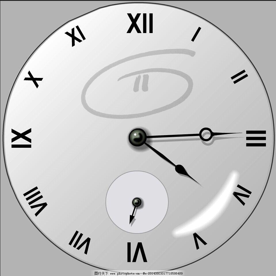 数电数字时钟电路图