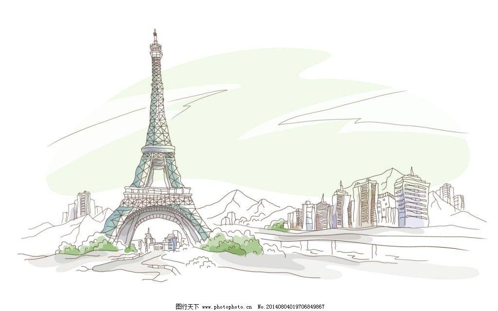 埃菲尔铁塔免费下载 壁纸 插画 欧美风 英伦风 插画 英伦风 欧美风