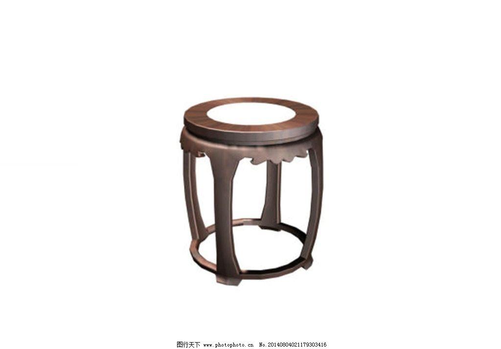 中式圆凳图片