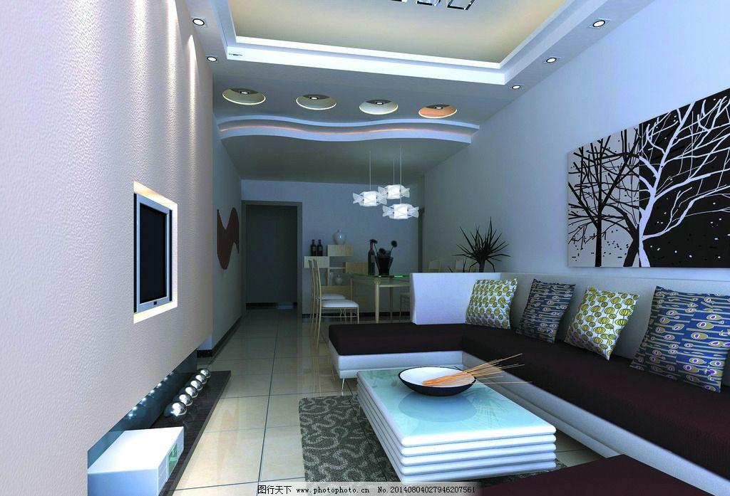 小客厅装饰 室内装修 室内设计 小客厅设计 天花装饰 墙面装饰 地板装饰 沙发 电视 吸顶灯 射灯 餐桌 建筑装饰设计图 环境设计 设计 96DPI JPG