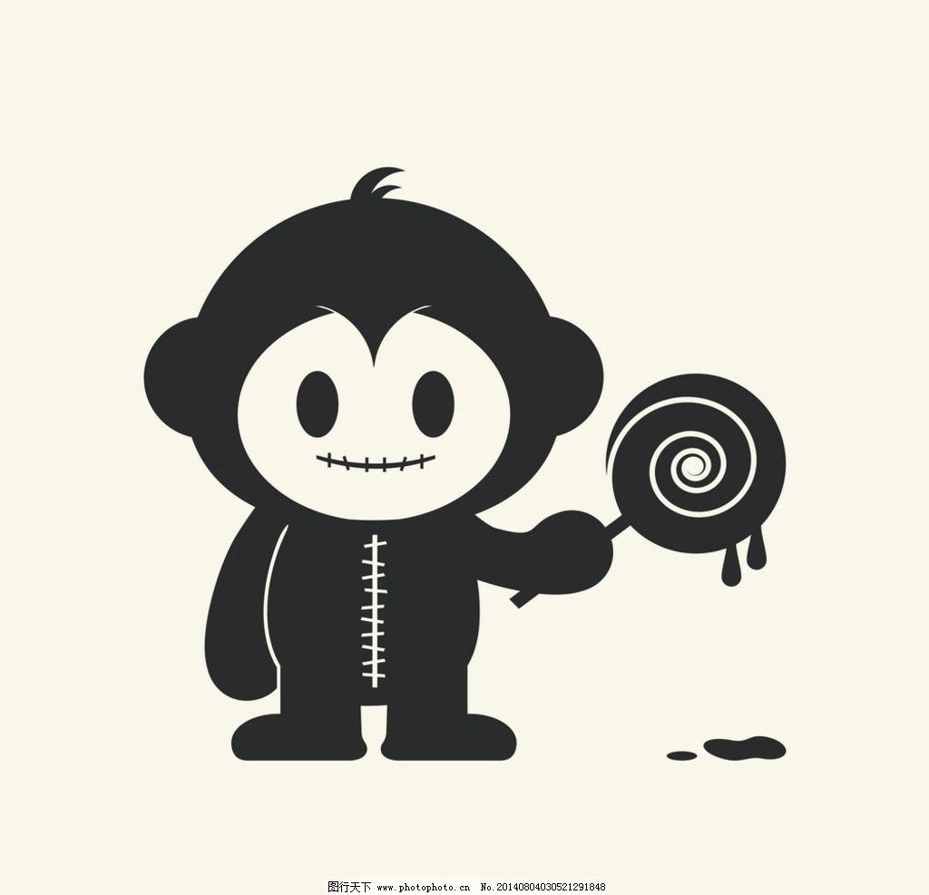 可爱卡通猴子形象图片