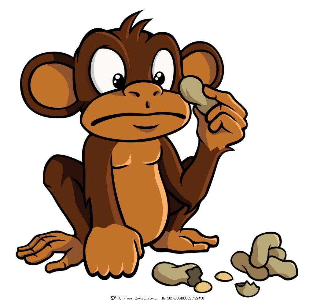 卡通猴子形象 猴子 卡通 动漫 手绘 矢量 可爱 动物 其他 动漫动画 设