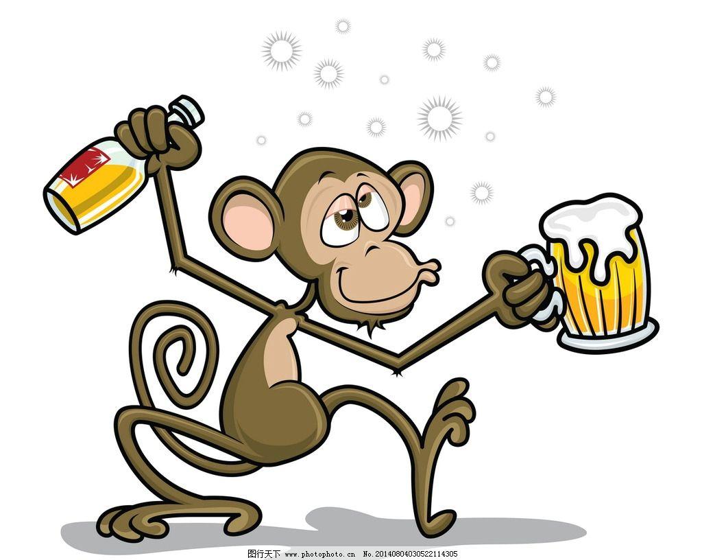 猴子卡通形象 猴子 卡通 动漫 手绘 矢量 可爱 动物 其他 动漫动画