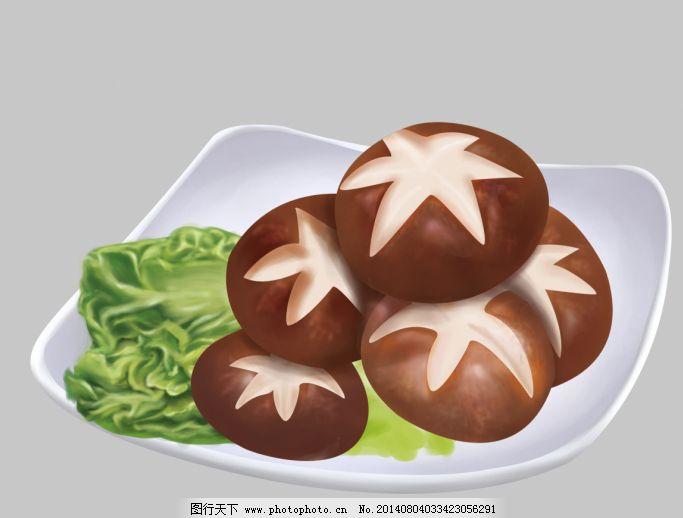 手绘蔬菜 蔬菜 美味香菇 蔬菜 手绘蔬菜 psd源文件 包装设计