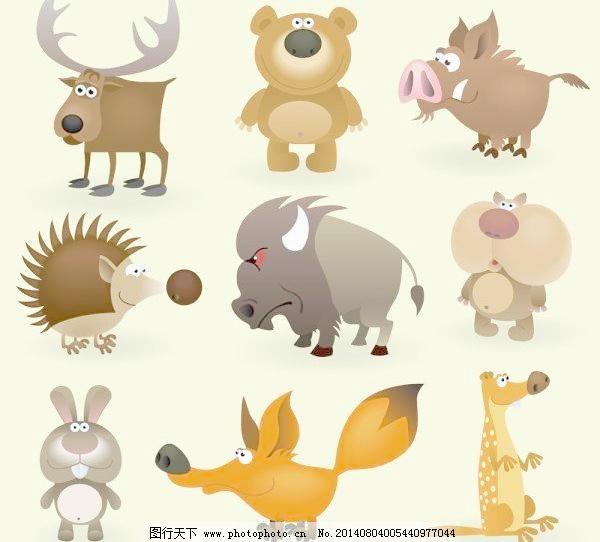 矢量卡通动物的形象