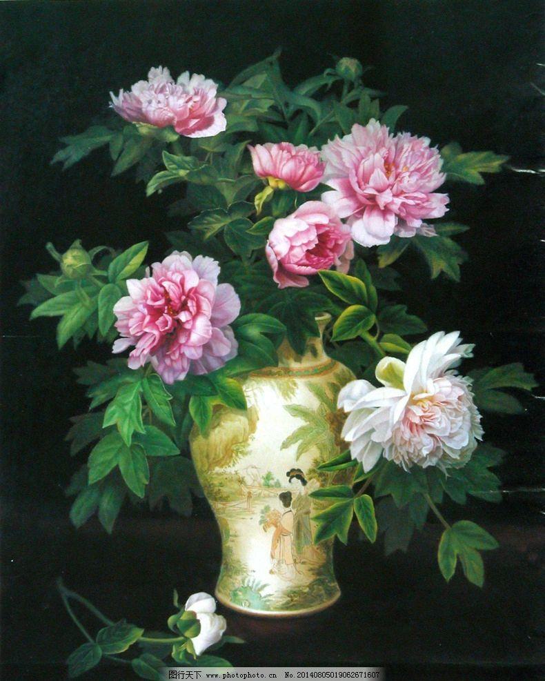 油画花卉 花卉油画 油画 花卉 玫瑰 装饰画 花卉装饰画 绘画书法 文化