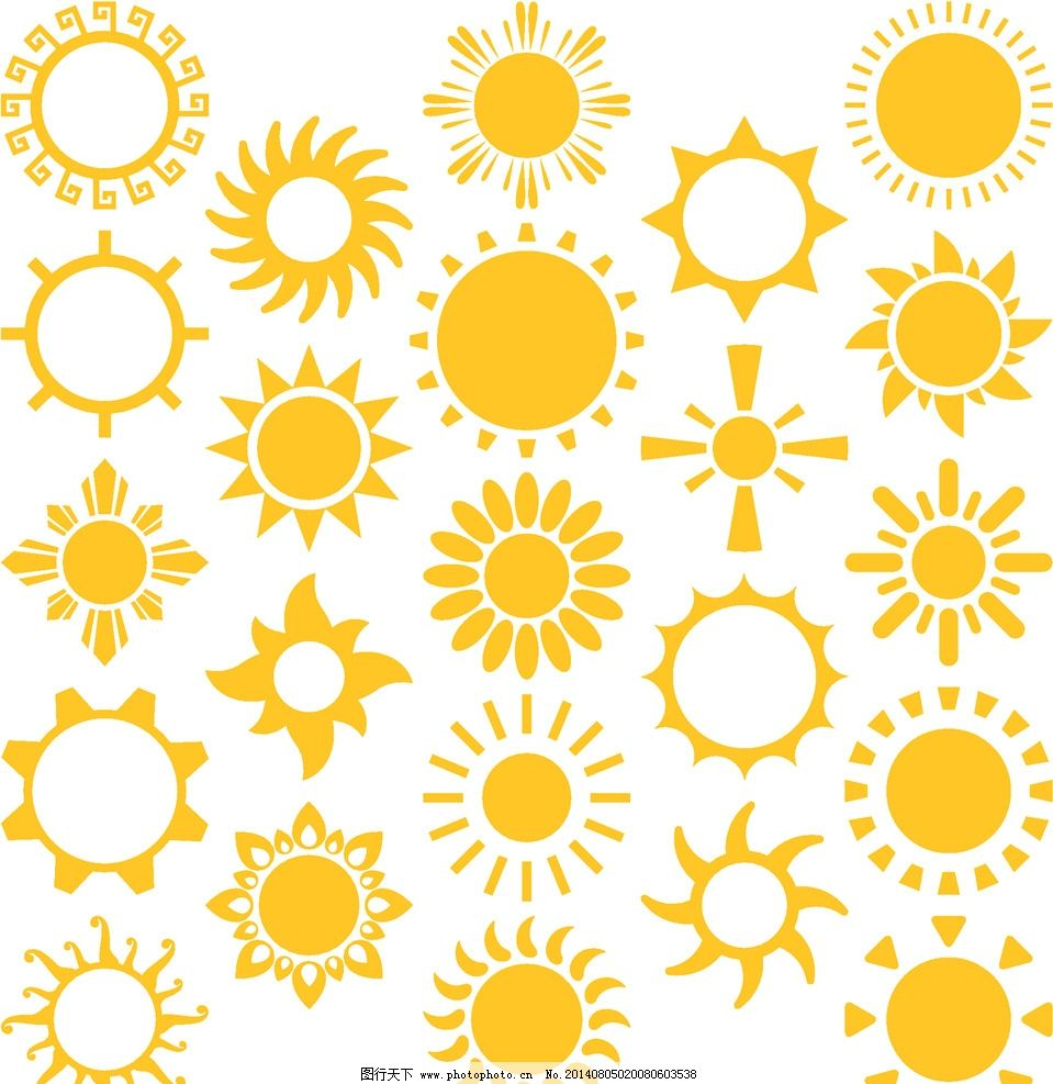 太阳 卡通太阳