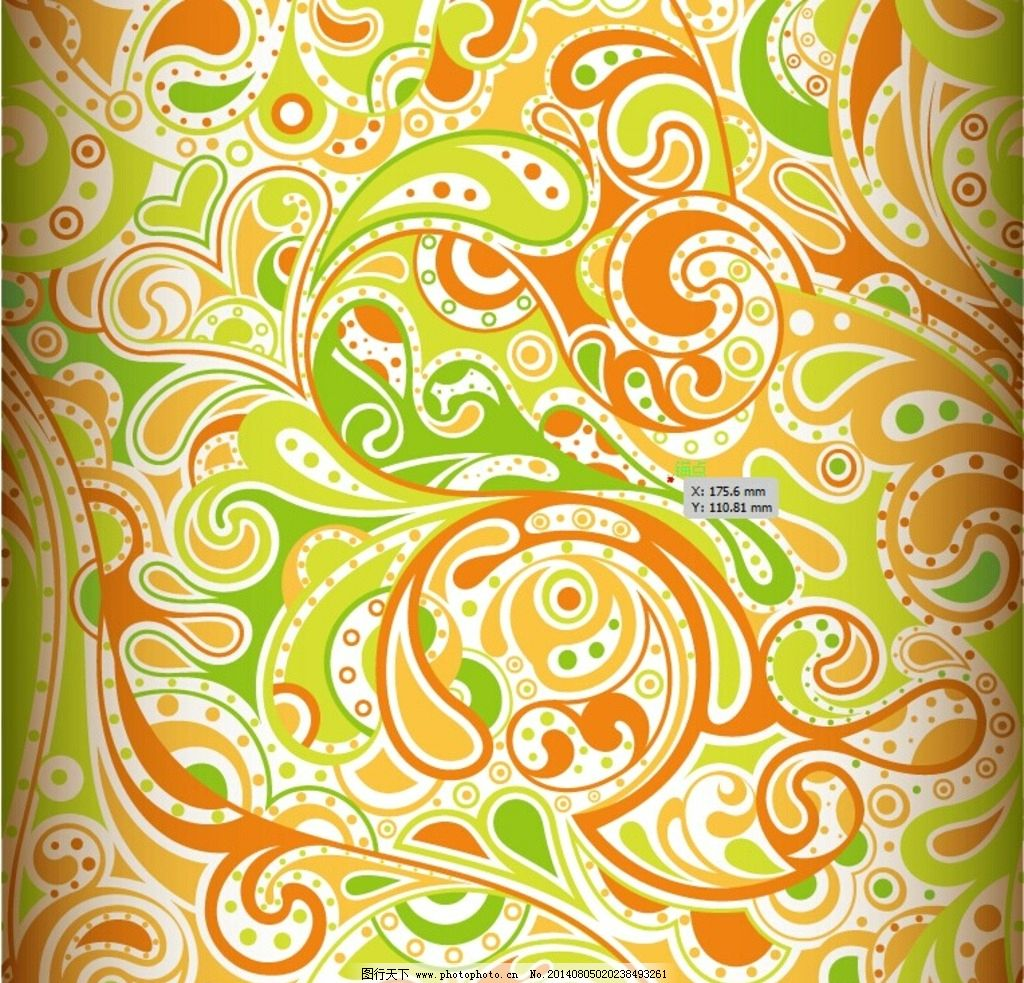 手绘花纹样 花型纹样 图片