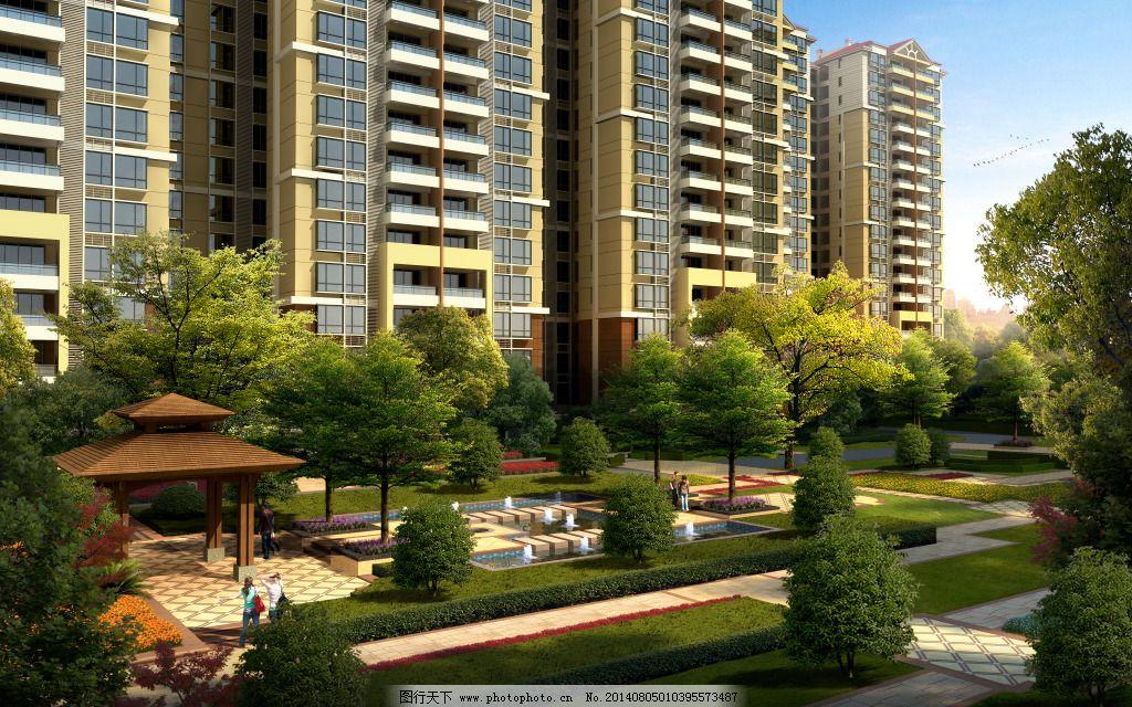 效果图 效果图免费下载 建筑 景观 室外 家居装饰素材 园林景观设计图片