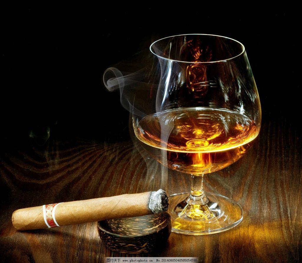 香烟 红酒 绅士 欧式 美式 摄影