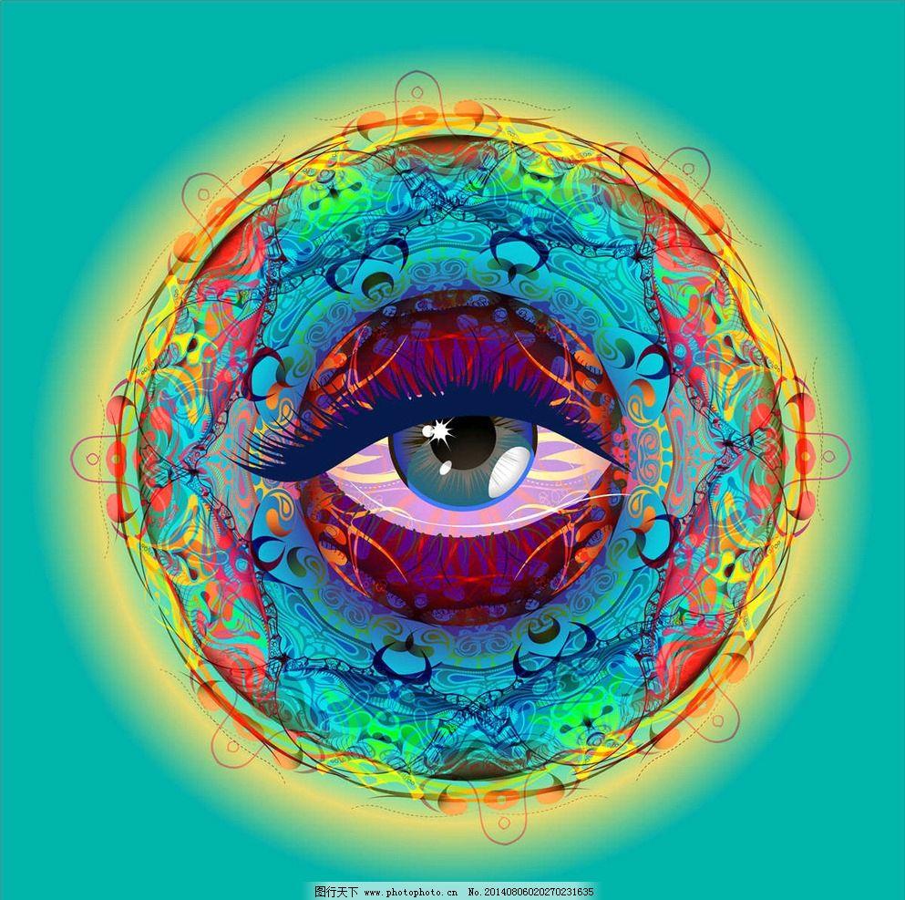 卡通眼睛背景 眼睛 卡通背景 卡通设计 动画设计 眼神 水彩画 卡通画