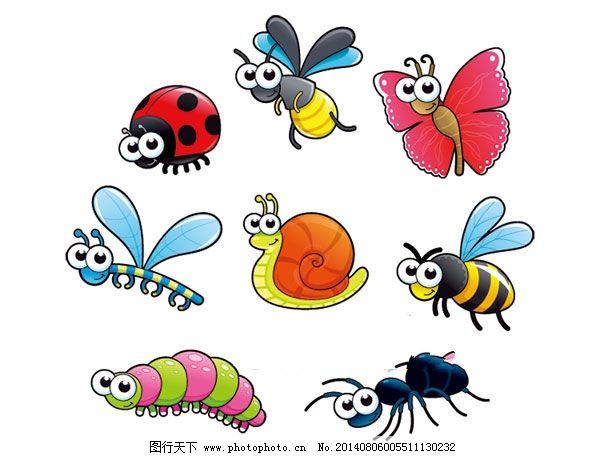 卡通昆虫矢量图