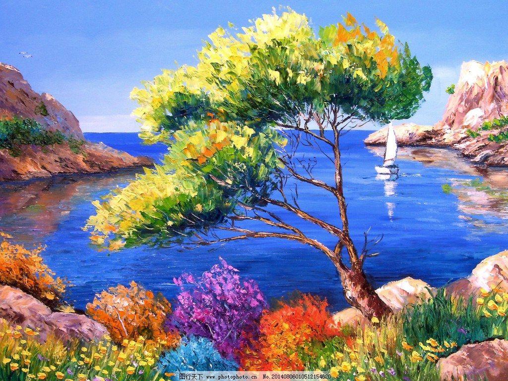 风景油画装饰