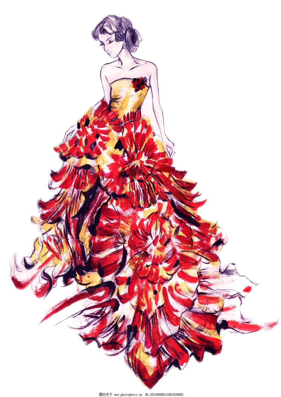 手绘服装模特免费下载 服装模特 服装设计 手绘人物 手绘人物 服装