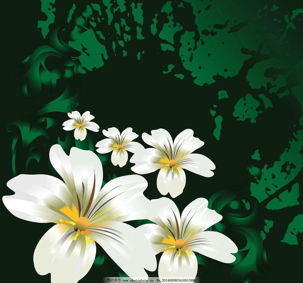 彩色线条 手绘花朵