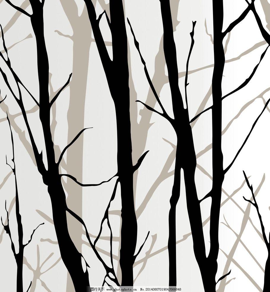 用树枝做动物贴画