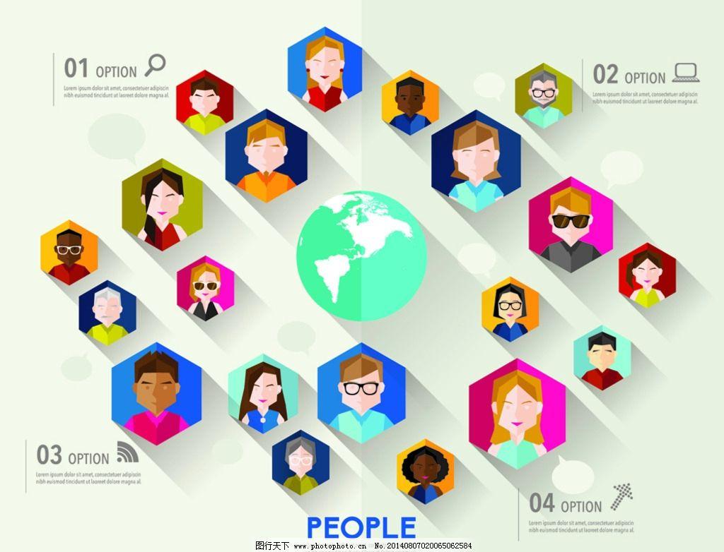设计图库 标志图标 网页小图标  社交网络 互联网 网站 人物头像 社交