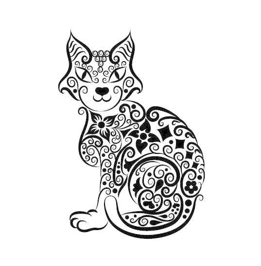 手绘动物图案矢量素材03