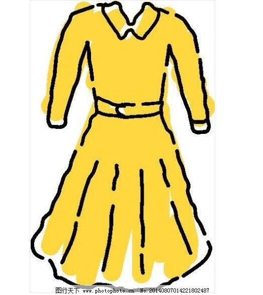 服装服饰免费下载 长袖 黄色 连衣裙 连衣裙 黄色 长袖 服装设计 其他