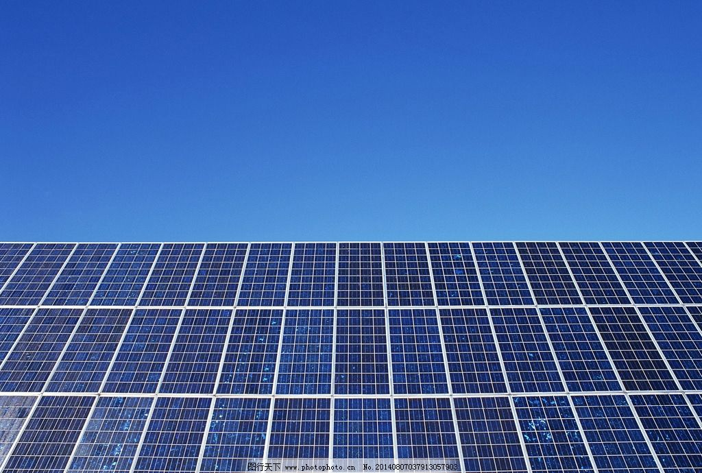 高清太阳能电池板图片