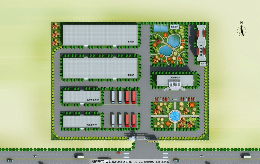 厂房 鸟瞰 设计图 3d设计图 平面布局图 室外模型 3d设计 设计 72dpi