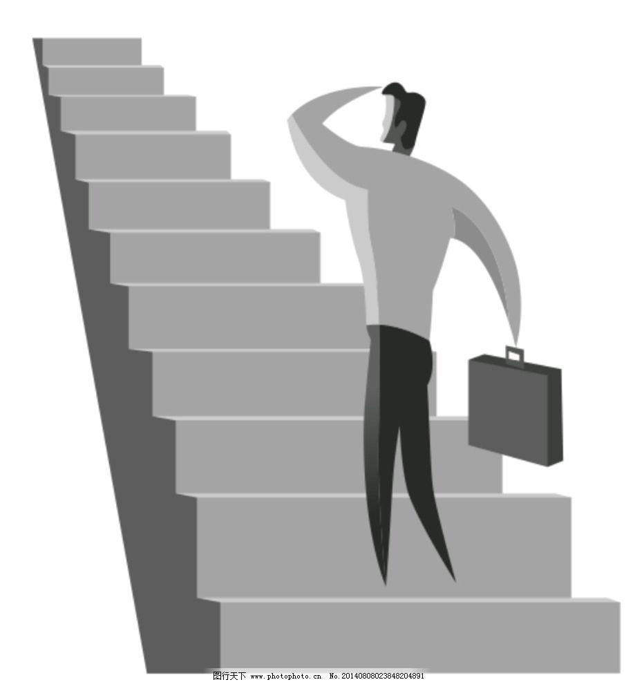 成功阶梯图片