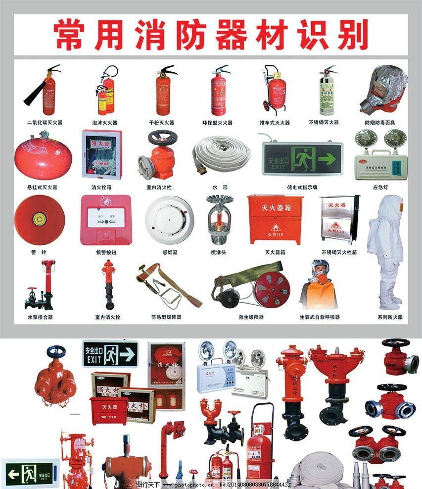 常用消防器材识别图片
