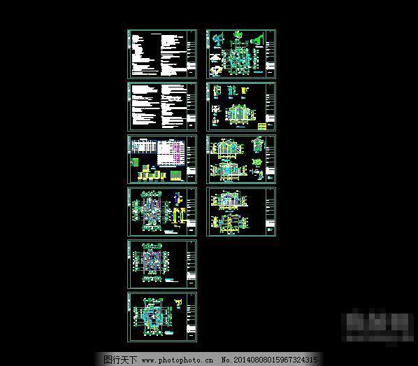 设计图库 cad素材 建筑图纸  cad两层别墅图纸免费下载 cad图纸 别墅