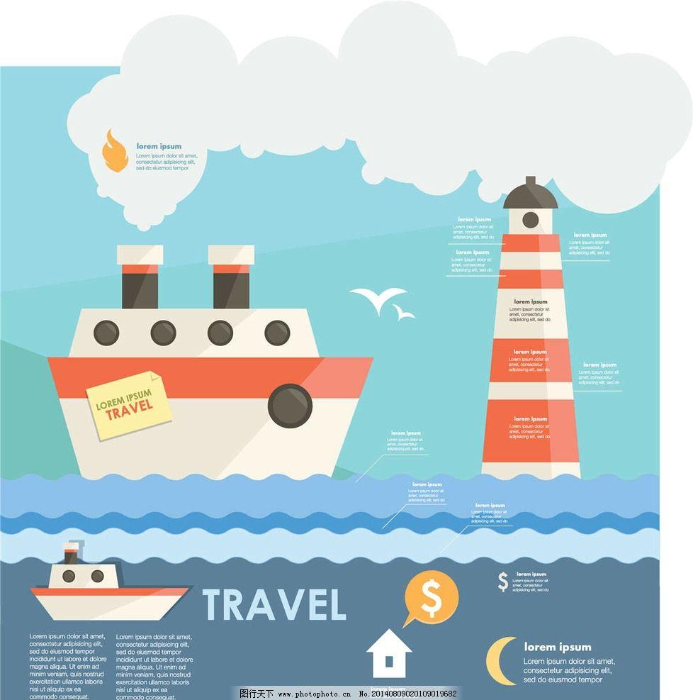 旅行旅行图标商务ppt 轮船