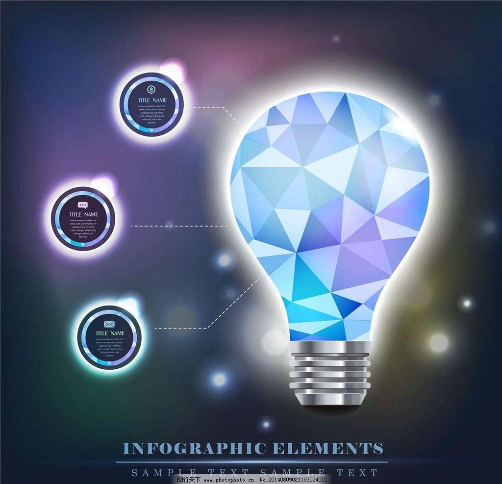 灯泡立体图形 立体灯泡 3d灯泡 立体图形 立体设计 3d设计 3d图形