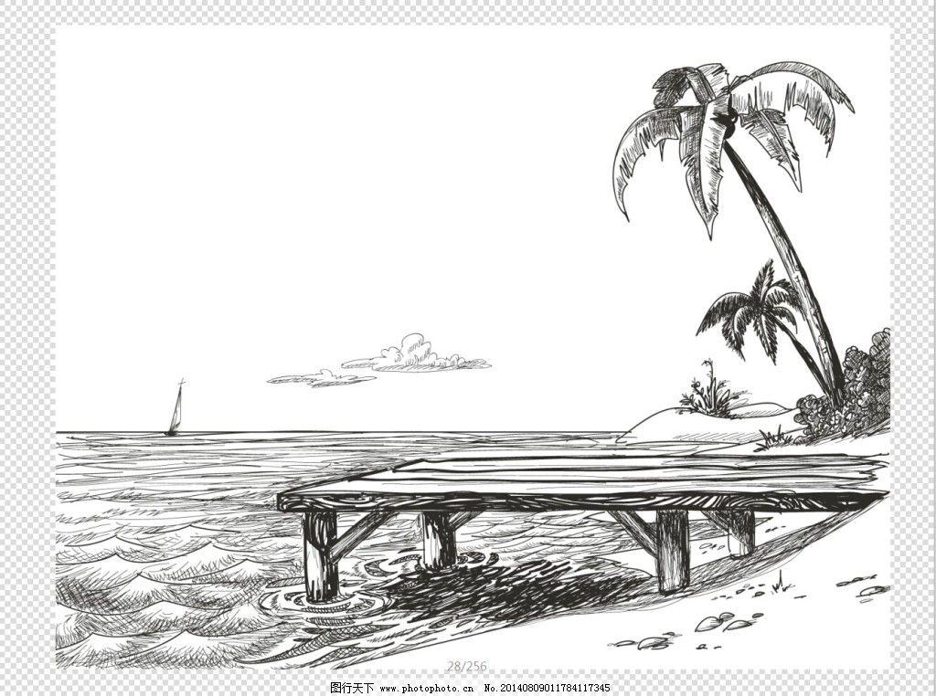 装饰素材 山水风景画>>-一枫斋精品国画山水画六尺横幅作家乡山水图
