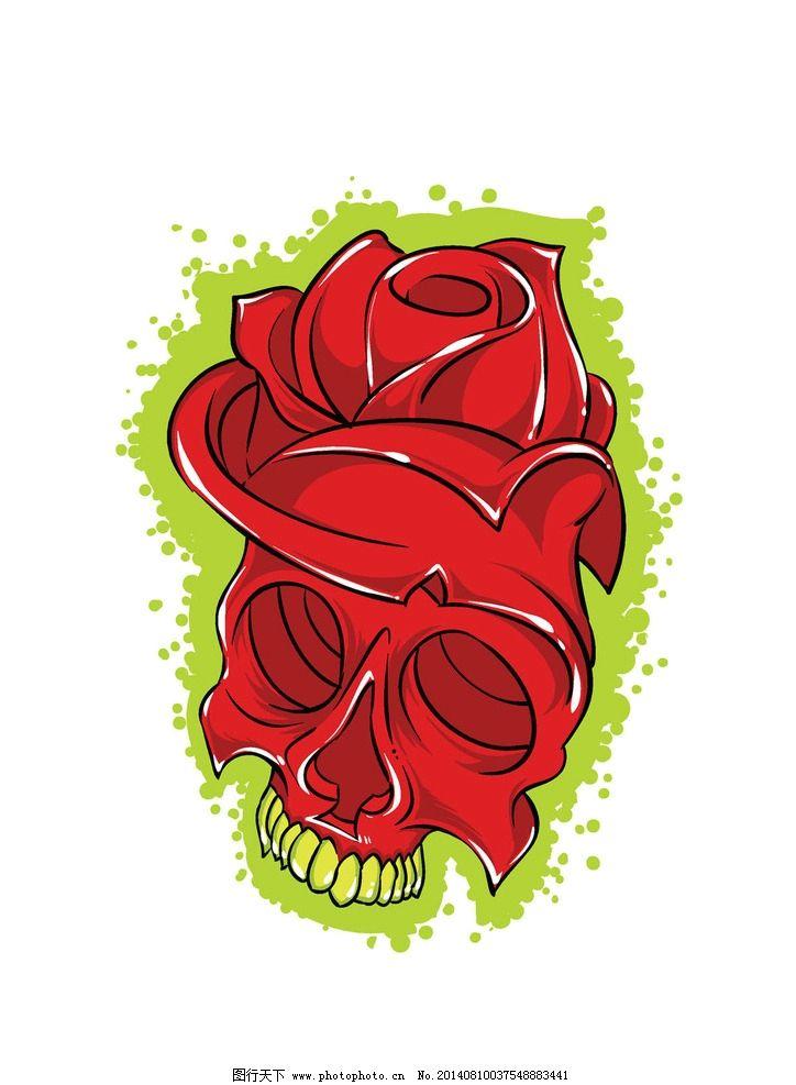 玫瑰t恤图案设计 玫瑰 纹身图案 t恤设计 t恤花纹 服装设计 t恤 t恤