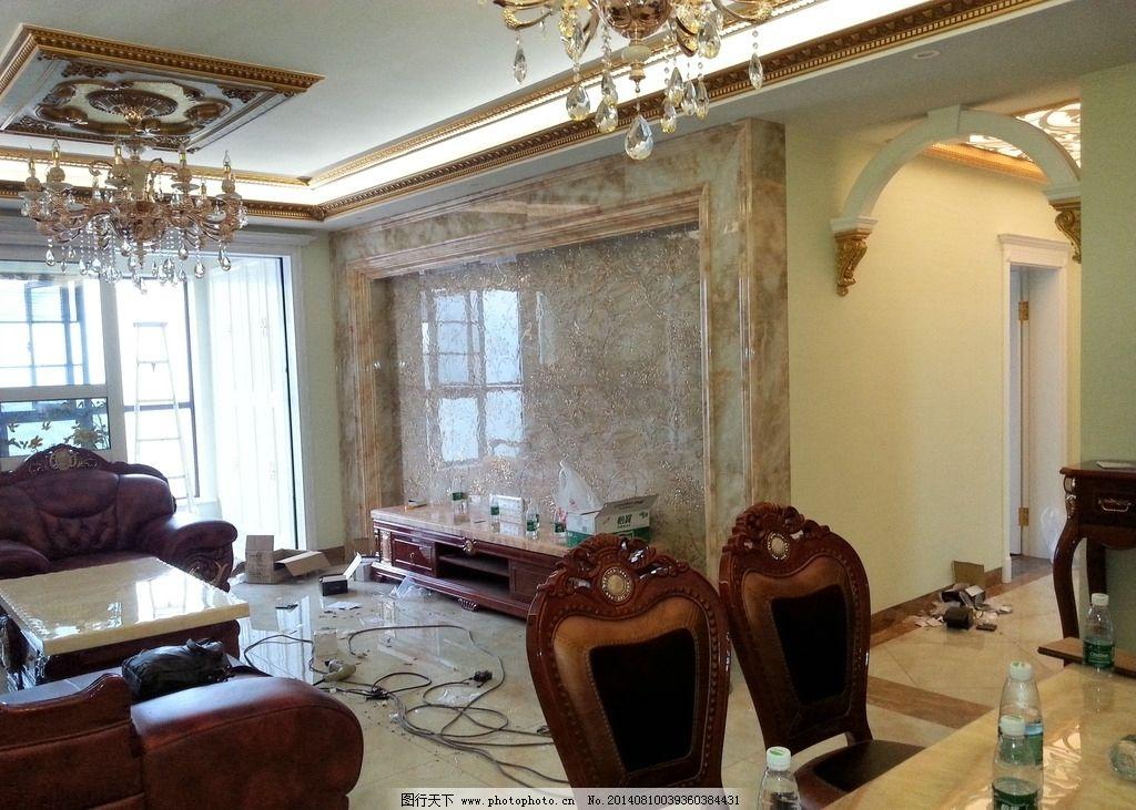 简约客厅 电视墙 客厅沙发 客厅效果图 室内摄影 建筑园林 摄影