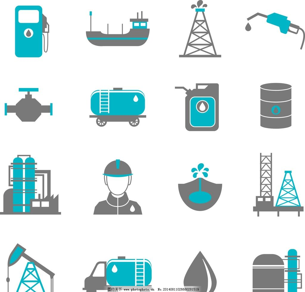 石油工业 工业图标 工业设计 工业生产 能源 工业标志 工业logo 图标