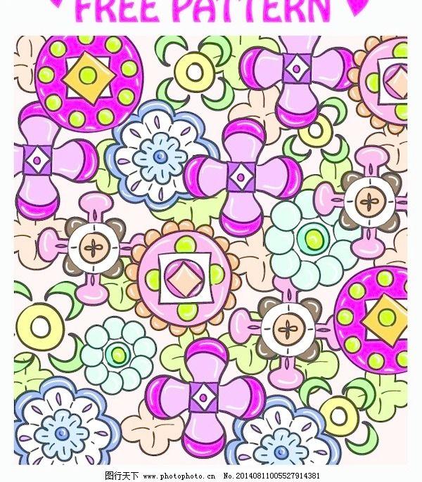 日系花纹矢量素材
