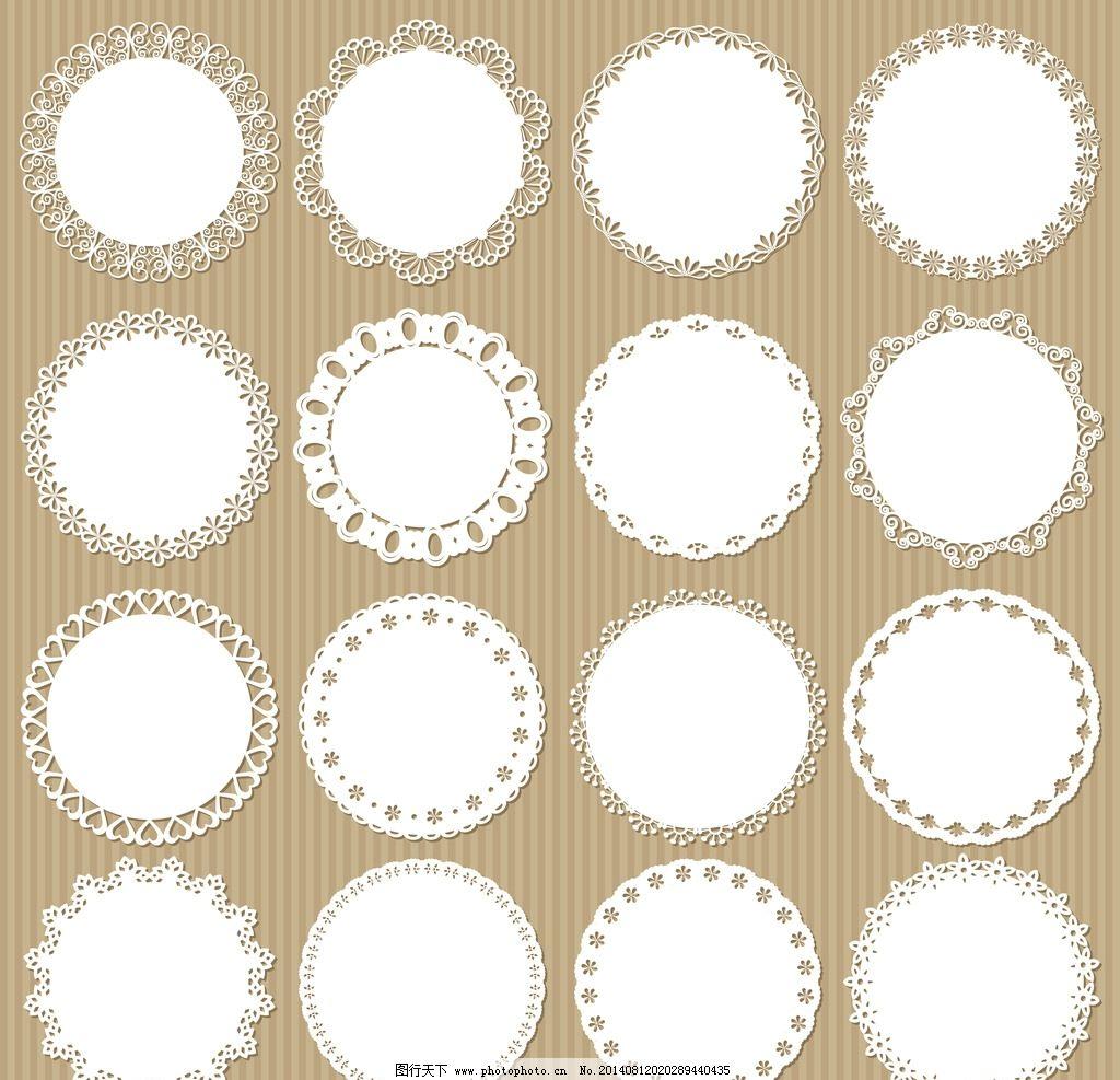 装饰花纹 手绘花纹 花纹标签 传统花纹 纸纹 时尚花纹 边框花纹 中式