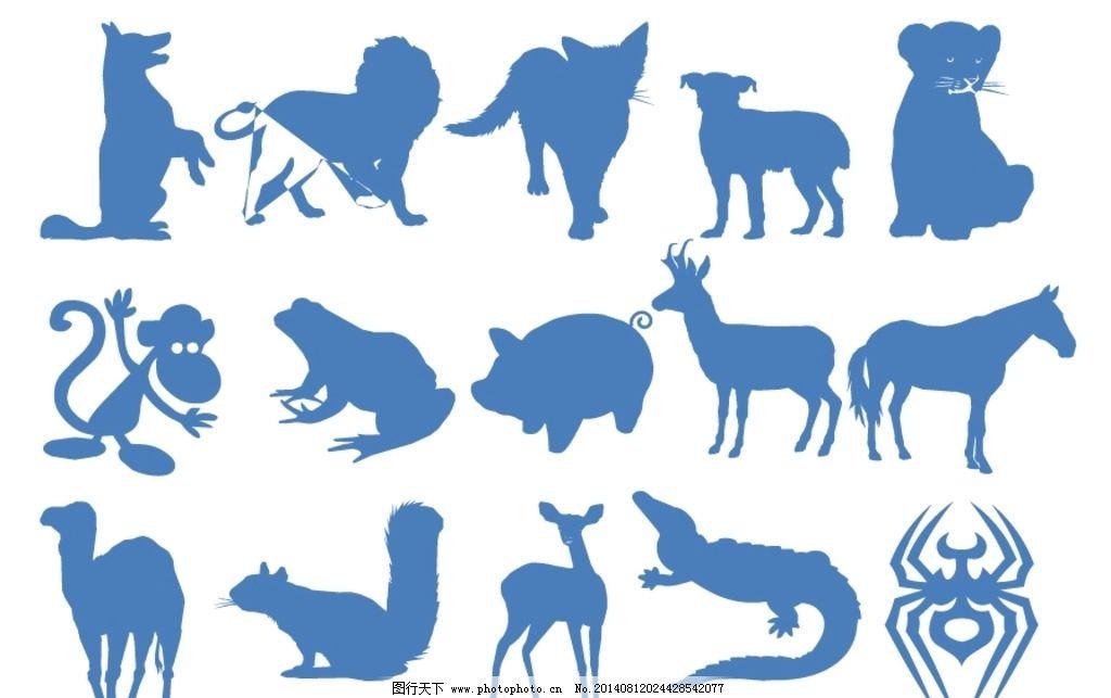 动物剪影图片