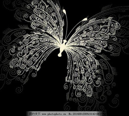 动物 高雅 蝴蝶 花纹 渐变 昆虫 矢量素材 动物 昆虫 花纹 图案 图形