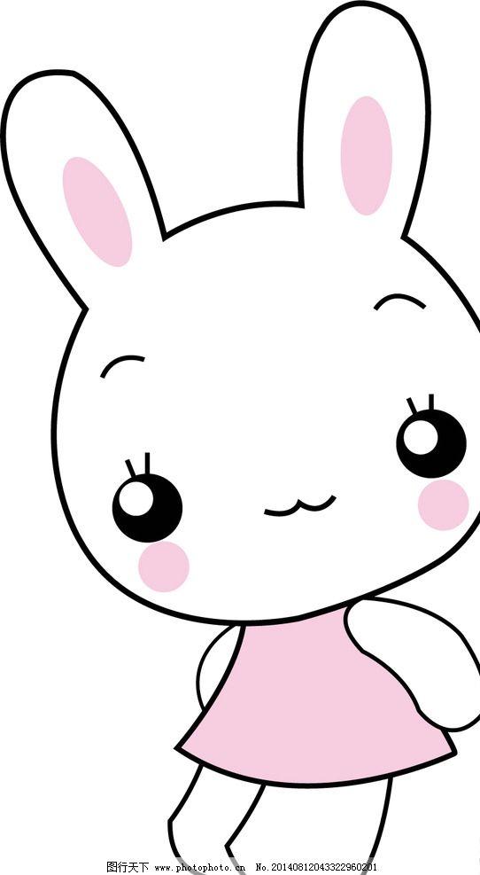 美小兔 卡通 矢量图 印刷 门贴 墙贴 卡通设计 广告设计图片