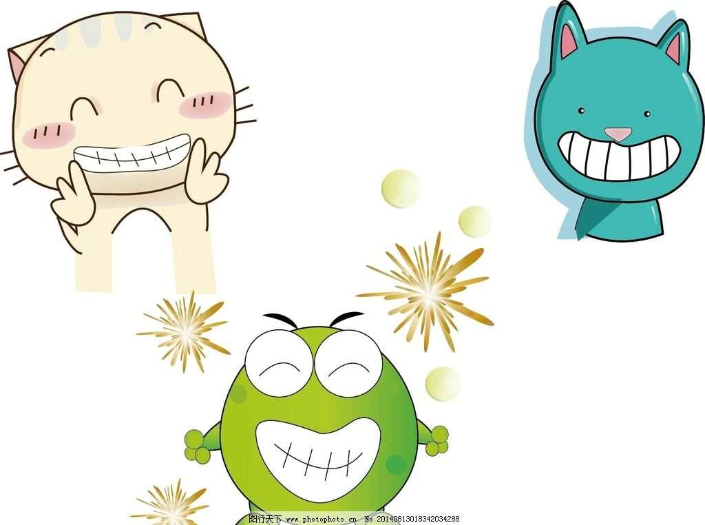 卡通动物 动漫 小动物 漫画 卡通 动漫人物 动漫动画 设计 ai